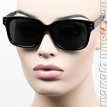 Large Wayfarer Super Dark Hipster Vintage Style Sunglasses Retro Black K501 Photo