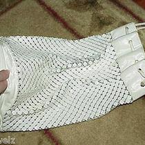 Large White Metal Tote Shoulder Bag Purse Whiting Davis Vintage Handbag Photo