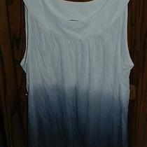 Large Worn Twice Express Blue Ombre Tank Photo
