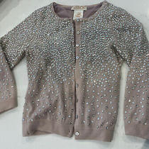 Larok Blush Pink Cashmere Sequin Embellished Cardigan Sweater 3/4 Sleeve Size Xs Photo