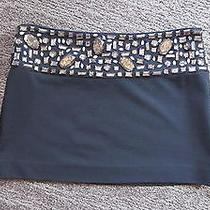 Larok Mini Skirt Beaded Black Short Small S New Jersey Big Jewels Bebe Sold Out Photo
