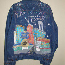 Las Vegas Blue Jean Jacket  Levi Strauss Hand Painted Large Photo