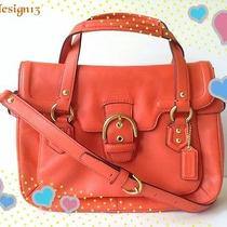 Last One nwt.coach Campbell Leather Small Flap Satchel Bag Purse 27231hot Orange Photo