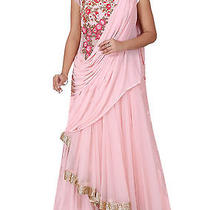 Latest Designer Blush Pink Embroidered Gown by Mira Photo