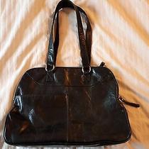 Latico Nj Large Leather Distressed Hobo Tote Shoulder Laptop Bag Purse Black  Photo