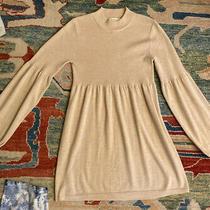 Laundry by Design Beige Sweater Dress Size Medium M Long Sleeve Wool Blend Photo
