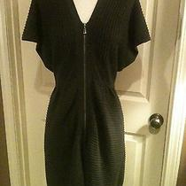 Laundry by Design Dress Sz S/p Gray Ribbed Zip Front Sweater Dress Very Nice Photo