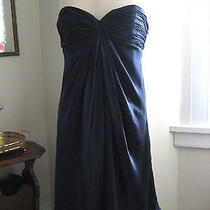 Laundry by Design Nordstrom Navy Silk Satin Strapless Dress Size 10 Photo