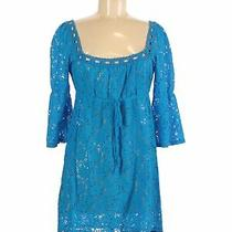 Laundry by Design Women Blue Casual Dress M Photo
