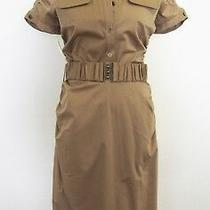 Laundry by Shelli Segal Bronze / Gold Shirtdress With Belt Size 4 Photo