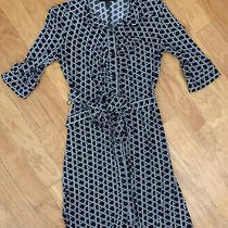 Laundry by Shelli Segal Dress Size 4 Womens Black White Belted Photo