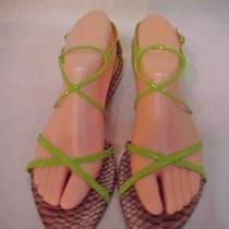 Laundry by Shelli Segal Green Patent Sandals Sz. 8.5 Gently Worn Photo