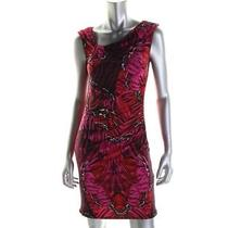 Laundry by Shelli Segal New Purple Printed Sleeveless Wear to Work Dress 2 Bhfo Photo