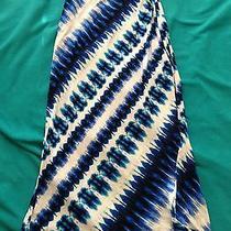 Laundry by Shelli Segal Nwt Blue Beret Tie Dye Maxi Skirt Xs 138 Photo