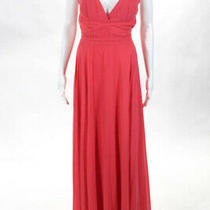 Laundry by Shelli Segal Pink Coral Hudson Gown Size 12 325 10308403 Photo