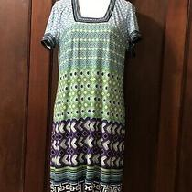 Laundry by Shelli Segal Shift Dress Geometric Pattern Women's Size Large L Blue Photo