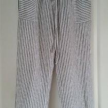 Laundry by Shelli Segal White & Black Striped Linen Lounge Pants Photo