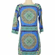 Laundry by Shelli Segal Women Blue Casual Dress 2 Photo