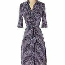 Laundry by Shelli Segal Women Blue Casual Dress 4 Photo