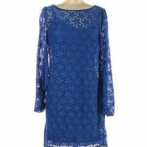 Laundry by Shelli Segal Women Blue Casual Dress 8 Photo
