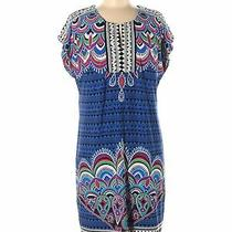 Laundry by Shelli Segal Women Blue Casual Dress M Photo