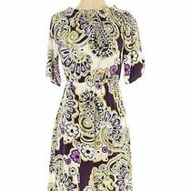 Laundry by Shelli Segal Women Purple Casual Dress Xs Photo