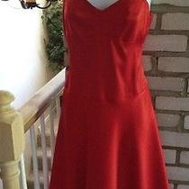 Laundry by Shelli Segal Women's Gorgeous Red Corset Dress Size 8 Nwt 180.00 Photo