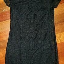 Laundry by Shelli Segal Womens Black Floral Lace Casual Dress in Size 0 Photo