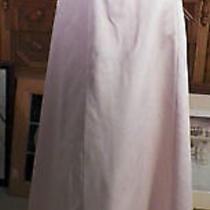 Laundry Pale Pink Satin Wedding Long Evening Formal Dress 2 Photo