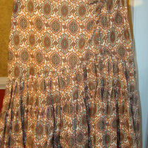 Laundry/shelli Segal White Skirt W/fancy Antique Print-Cute-2 Photo