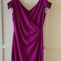 Lauren by Ralph Lauren Magenta Off Shoulder Dress Size Us 4 Uk 8 10 195 Photo