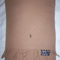 Lauren by Ralph Lauren Scarf Camel Lambs Wool Muffler (Made in Scotland)  Photo