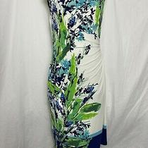 Lauren by Ralph Lauren Women Royal  Blue Dress Elbow Sleeves Size  M  Photo
