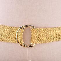 Lauren by Ralph Lauren Women's Belt Gold Braided Cord Gold Double D Rings  M Photo