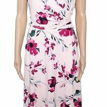 Lauren by Ralph Lauren Women's Dress Pink Size 12 a-Line Floral Belted 145 252 Photo
