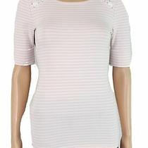 Lauren by Ralph Lauren Women's Knit Top Pink Size Small S Striped 59 526 Photo