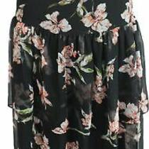 Lauren by Ralph Lauren Womens Black Size Small S Peasant Tiered Skirt 135 429 Photo