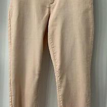 Lauren Conrad Crop Skinny Jeans in Beautiful Blush Color  Size 14 Photo