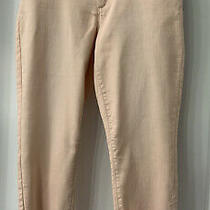 Lauren Conrad Crop Skinny Jeans in Beautiful Blush Color  Size 14 Photo