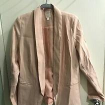 Lauren Conrad Size Medium Blush Open Front Jacket Blazer. Rose Pink Photo