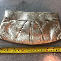 Lauren Merkin Gold Leather Louise Evening Clutch 10