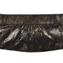 Lauren Merkin Handbag Size Small Brown Animal Print Leather Clutch Purse Casual Photo