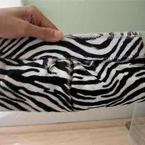 Lauren Merkin Pony Hair  Zebra Clutch Bag Black & White Lk Susan Lucci's on Tv Photo