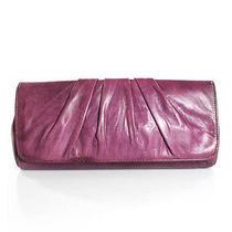 Lauren Merkin Violet Ruched Leather Envelope Clutch Photo