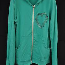 Lauren Moshi Green Charm Bracelet Heart Zip Hoodie Jacket M Photo