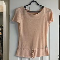 Lauren Ralph Laruen Linen Blush Knit Sweater Size M Med Medium  Photo