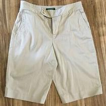 Lauren Ralph Lauren 4 Pocket Beige Shorts Size 10 Zipper/double Button Closure Photo