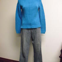 Lauren Ralph Lauren Aqua  Womens Sweater & Jeans Sz S  Photo