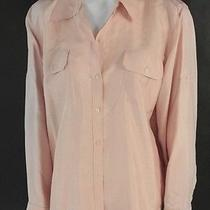 Lauren Ralph Lauren Button Down Shirt Ls Silk Blouse Blush Pink 14 W Nwd 119 Photo
