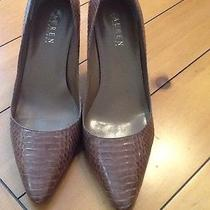 Lauren Ralph Lauren Croc Gator Pumps 7.5 Used Photo